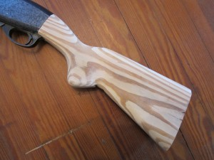 Homemade Remington 870 Stock 3-9-13 028