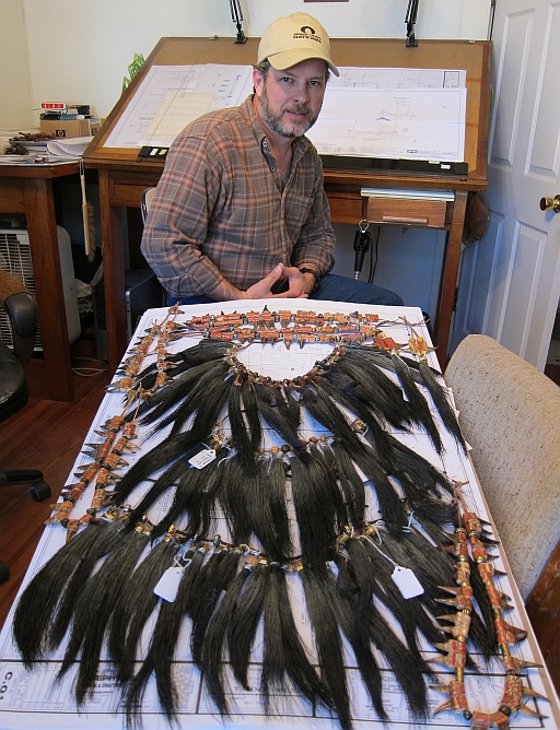 Larry Stephens with his Turkey Beard and Spur Collection 2013