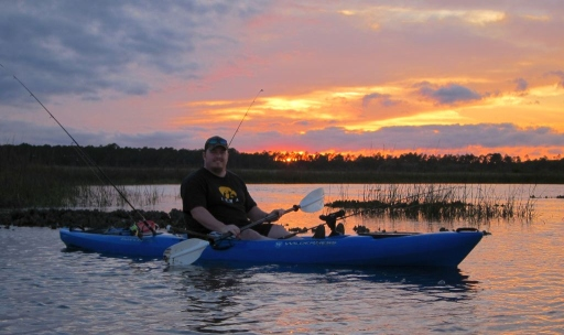 Chris Coffey Kayak Fishing with Larry Stephens