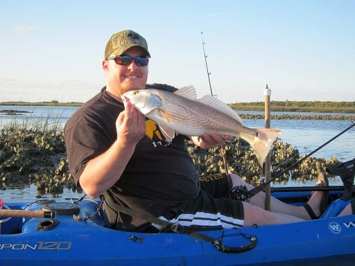 Chris Coffey Redfish with Bull Creek Outfitters 3-29-14